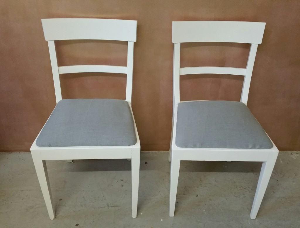 Stühle in Reinweiss, 50er Jahre